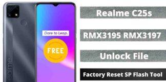 Realme C25s Unlock File & Frp File, Factory Reset SP Flash Tool