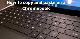 How to copy and paste on a Chromebook