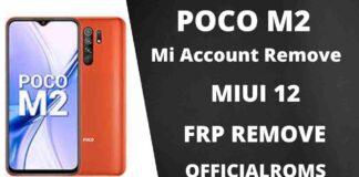 Poco M2 Unlock File & Mi account Remove SP Flash Tool