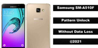 Samsung SM-A510F Pattern Unlock without Data Loss Tested 2021