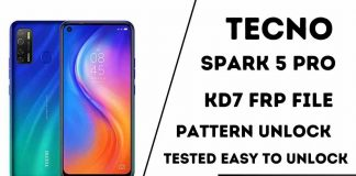 TECNO Spark 5 Pro KD7 Frp File Tested Easy to Unlock