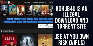 HDHub4U is an illegal download and torrent site