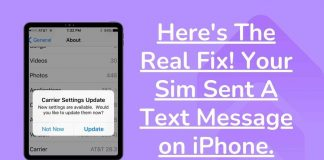 Here's The Real Fix! Your Sim Sent A Text Message on iPhone.