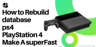 How to Rebuild database ps4 PlayStation 4 Make A superFast
