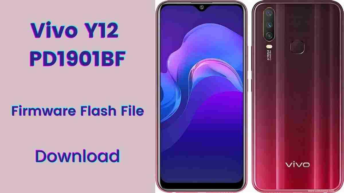 Vivo Y12 PD1901BF Firmware Flash File (Stock Rom)