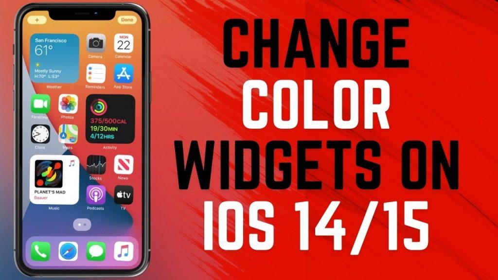 How to Change color widgets on iOS 14/15 | iPadOS 15