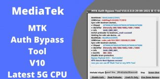 MTK Auth Bypass Tool V11 Latest 5G CPU