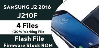 Samsung J2 2016 J210F 4 Files Flash File Fimware (Stock ROM)