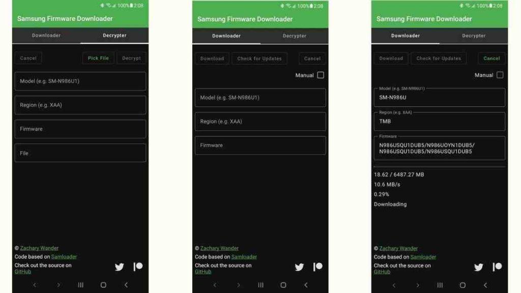 SamloaderKotlin  Mobile app