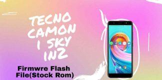 Tecno Camon i sky in2 Firmware Flash File (Stock Rom)